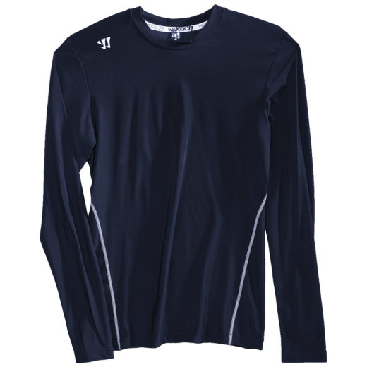 Warrior Compression Crew Langarm-Shirt navy Senior