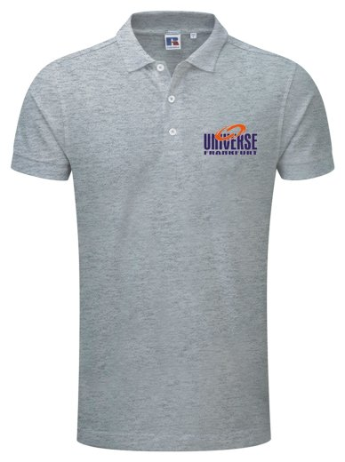 Frankfurt UNIVERSE Russell Fitted Stretch Polo Shirt 2019 grau 3XL