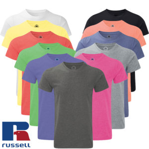 Russell Männer HD Tee Sublimations T-Shirt TOP DEAL weiß...