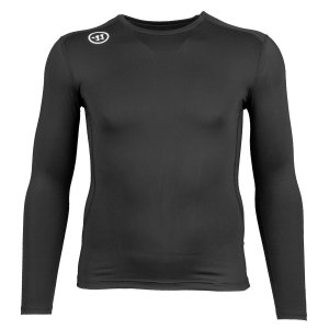 Warrior Compression Longsleeve Shirt Senior schwarz L