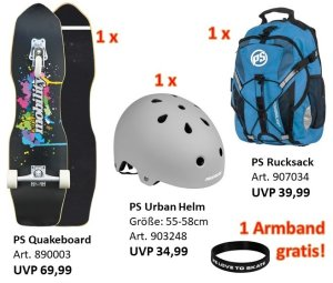 Bundle DEAL - Quakeboard + Urban Helm + Rucksack
